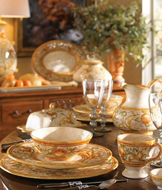 Setting a Sunny Stylish Table with Italian Designer Dinnerware