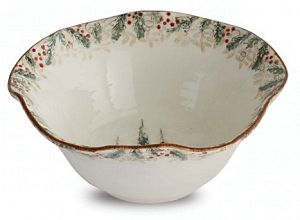 Classic Winter / Christmas Serving Bowl