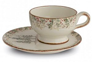 Classic Winter / Christmas Jumboo Cup and Saucer