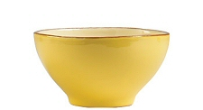 Cereal Bowl in Cream and Saffron